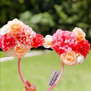 Disney Parks Floral Minnie Ears Headband